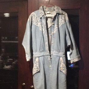 80s Denim dress
